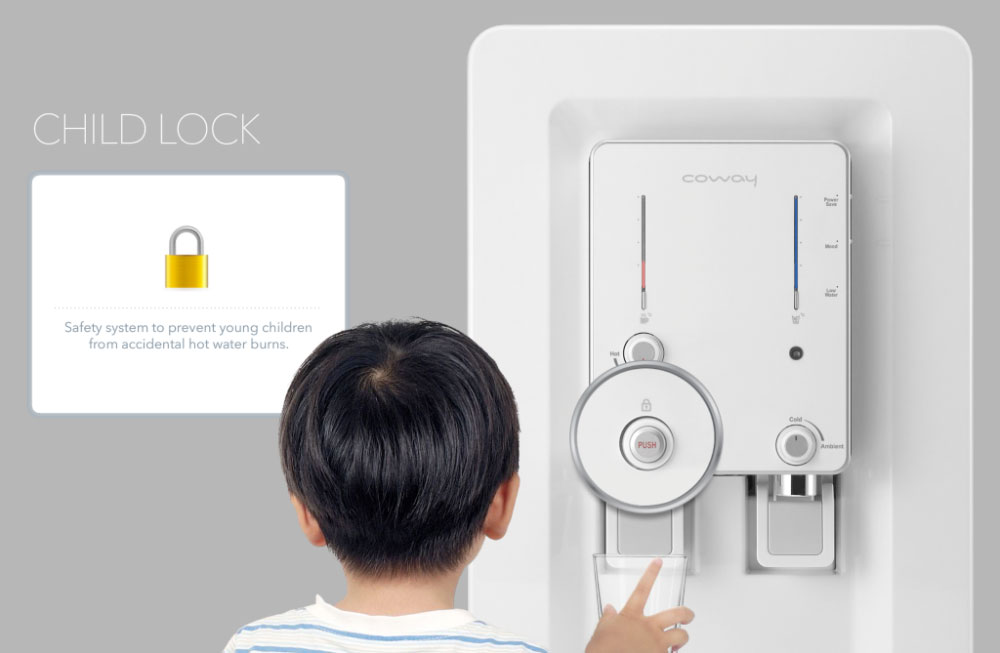 sistem child lock coway selamat untuk anak