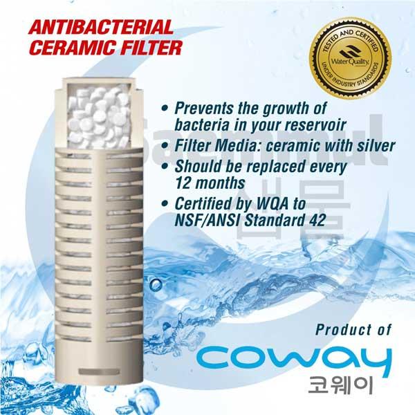 anti bacterial ceramic filter coway