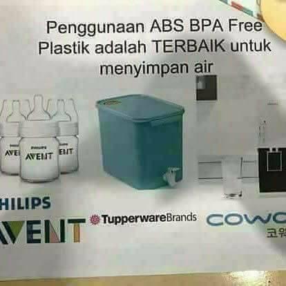 bpa free plastik tangki air coway