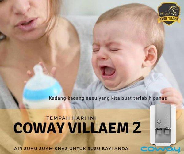mudah bancuh susu bayi guna coway villaem 2