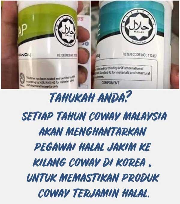 produk coway halal jakim