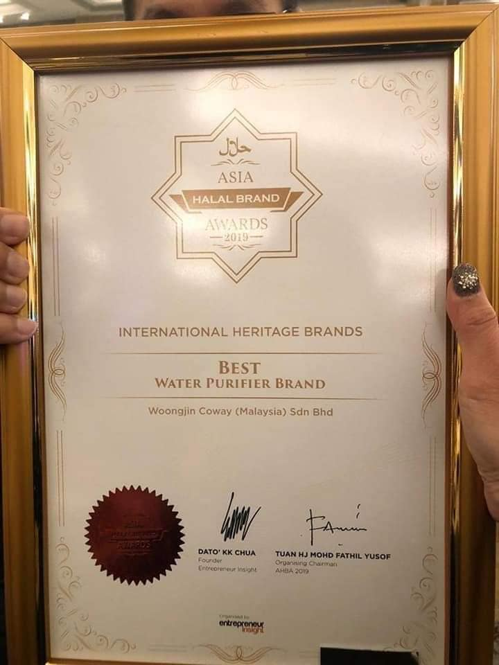sijil asia halal brand award coway 2019